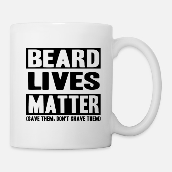 Beard Mugs & Drinkware - Beard facial hair mustache goatee - Mug white