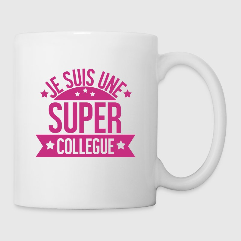 JE SUIS UNE SUPER COLLEGUE - Mug blanc
