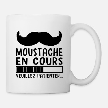 Blague MOUSTACHE EN COURS - Mug blanc