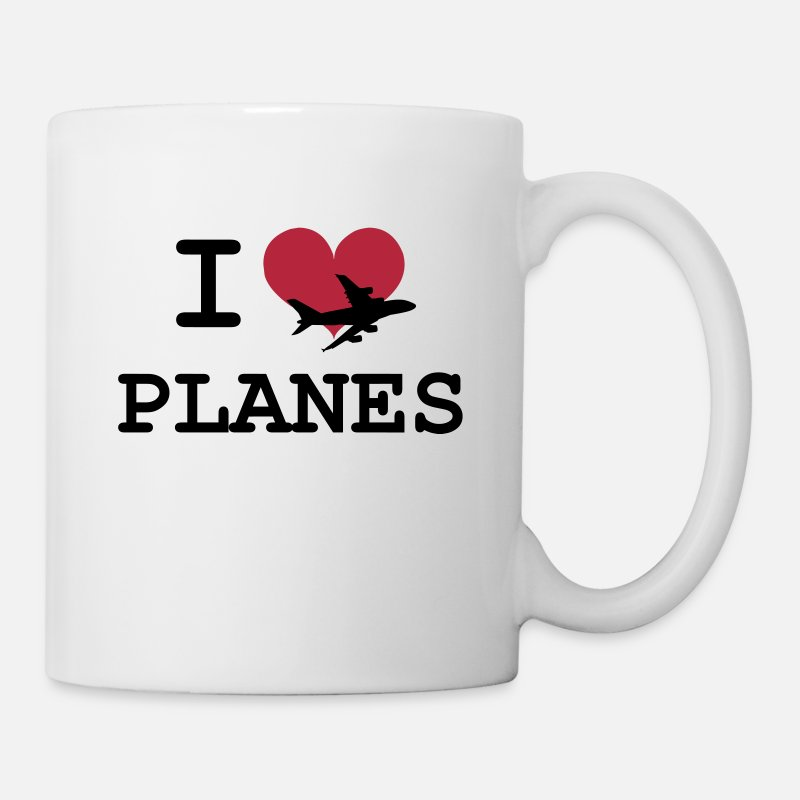 Airplane Mugs & Drinkware - I Love Planes [Pilot] - Mug white