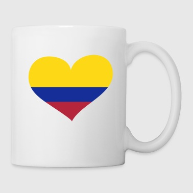 Kolumbien Herz; Heart Colombia - Kubek