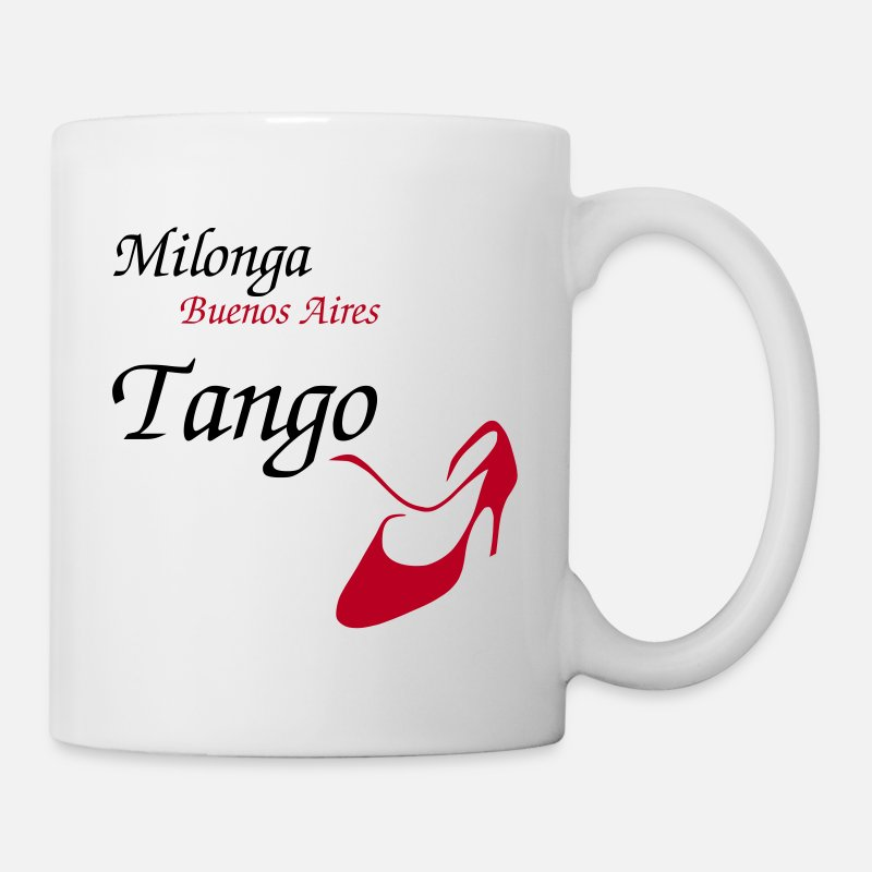 Italy Mugs & Drinkware - Argentine Tango - Women Dance Shoes - Design - Mug white