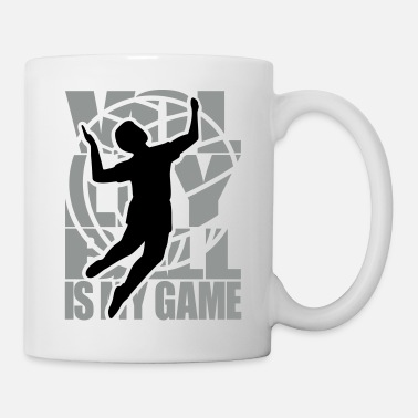 Volley Volley-ball Volleyball Volley   - Mug blanc