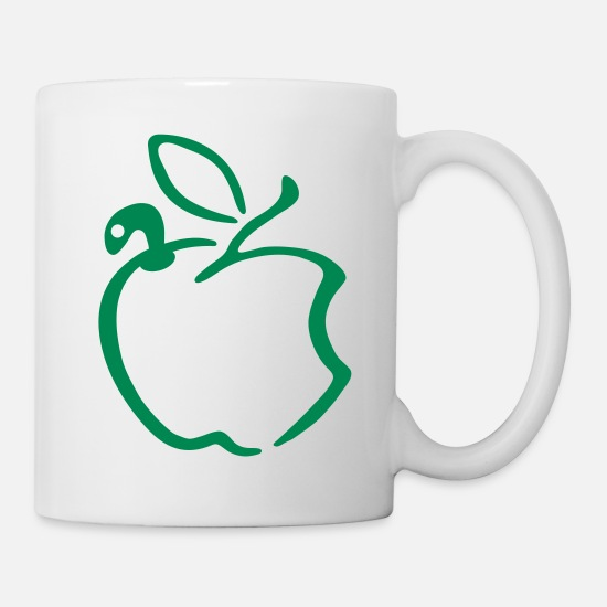 Caterpillar Mugs & Drinkware - apple_worm - Mug white