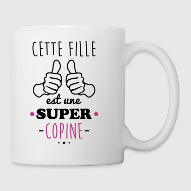 Fille super copine - Mug blanc
