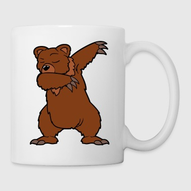 Dabbing dancing brown bear bear - Mug