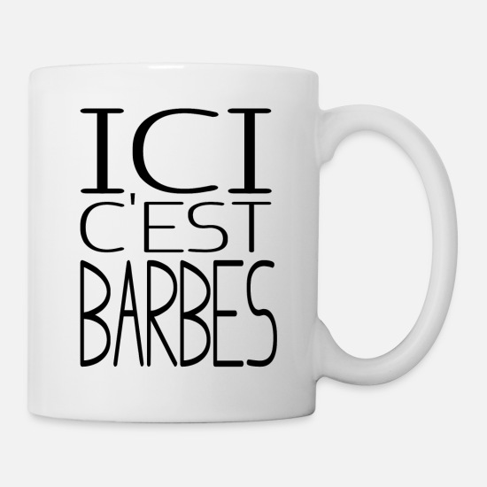 Here Mugs & Drinkware - Here is Barbes - Mug white