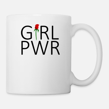 Girly Girl Pwr Power Femmes Filles Filles Power - Mug blanc
