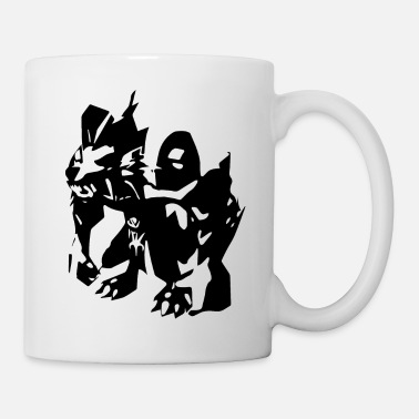 White Rabbit Werewolf white - Mug