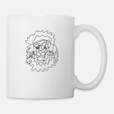Trait Lion - Dessin au trait - Dessin au trait - Mug