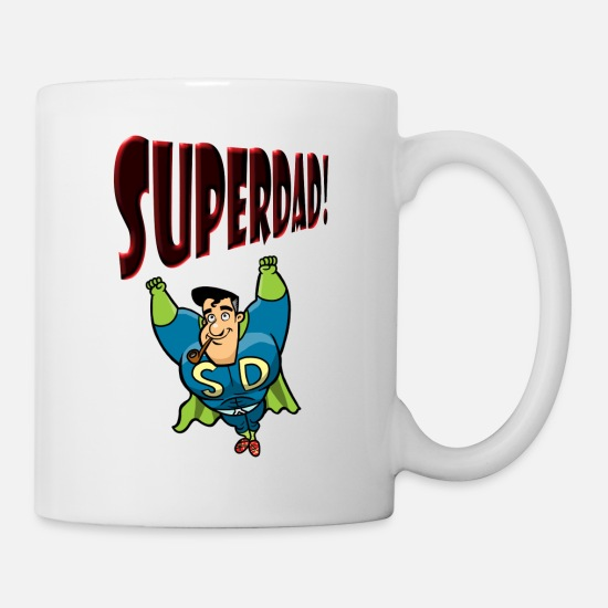 Father's Day Mugs & Drinkware - SuperDad - Mug white
