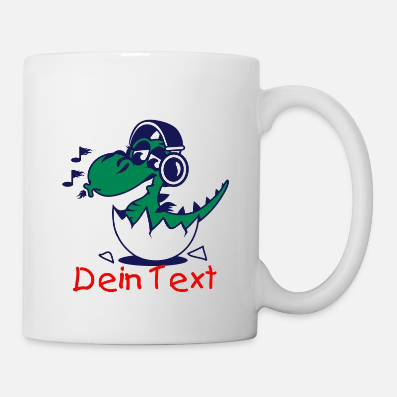 Fantasy Mugs & Drinkware - A little dragon with headphones - Mug white
