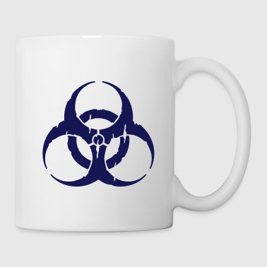 Dubstep hazard worn out / hazardous distressed - Mug blanc