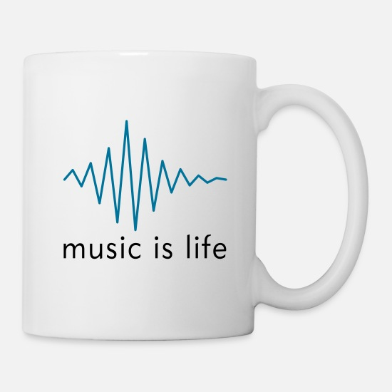 Hardstyle Mugs et récipients - Music is life Pulse / Music is life soundwave - Mug blanc