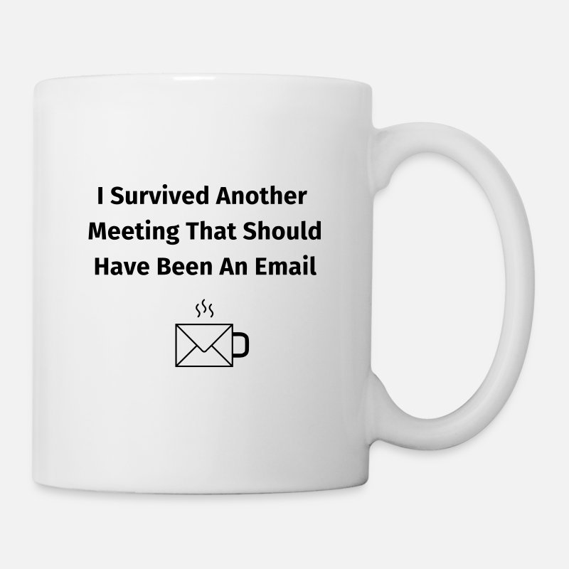 Kantoorhumor Mokken & toebehoor - I Survived Another Meeting - Mok wit
