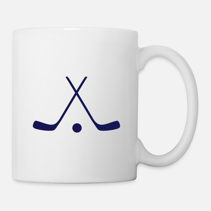 Hockey Mugs et gourdes - hockey sticks / hockey symbol - Mug blanc
