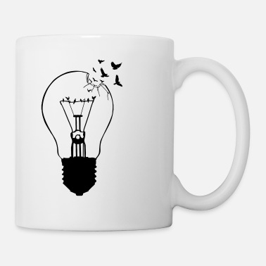 Old &amp Outlaw, breaking out of the old light bulb - Mug
