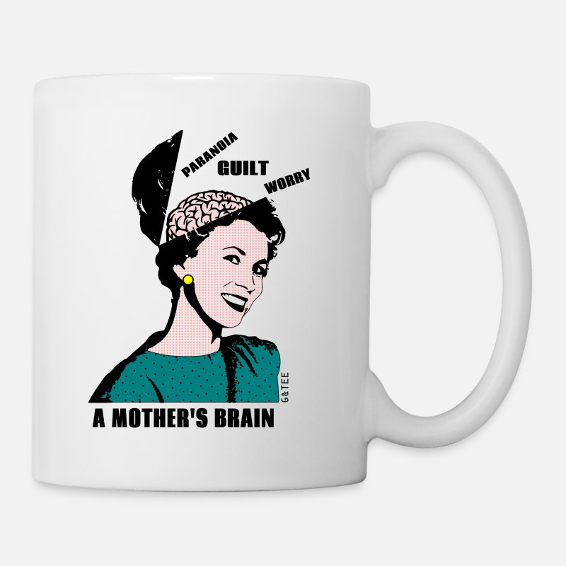 Brain Mugs & Drinkware - Mother's Brain Mug - Mug white