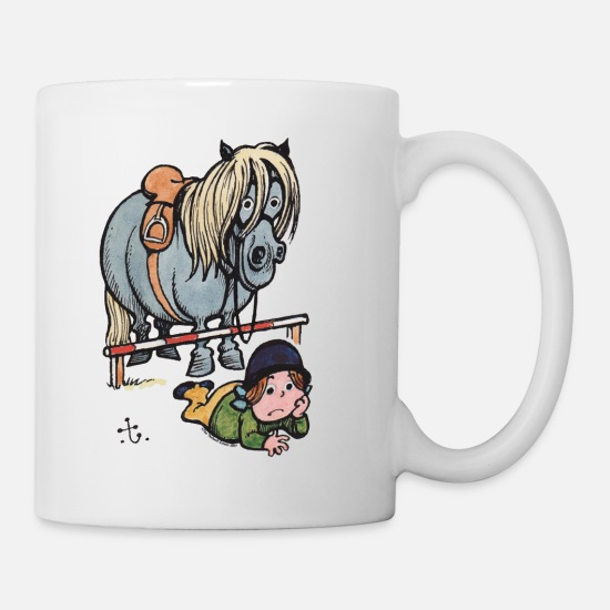 Humour Mugs et récipients - Thellwell Cheval Saut D'Obstacles - Mug blanc