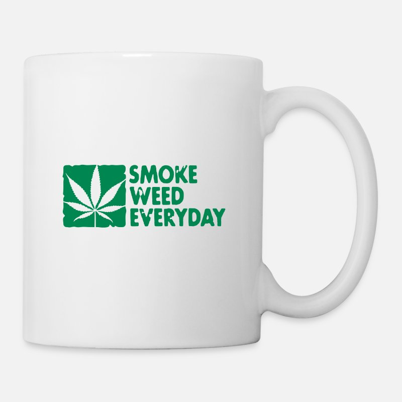 Cannabis Mugs & Drinkware - smoke weed everyday boxed - Mug white