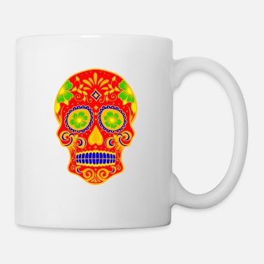 Skull Ancient Skull Art Design - Mug blanc