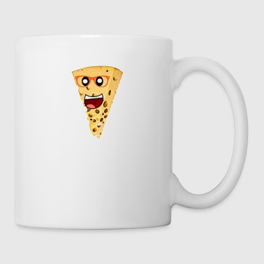 Cheese with glasses - cartoon style - funny cheese - Mug