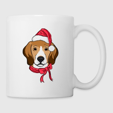 Beagle Xmas Hat Dog Lover Christmas - Mug