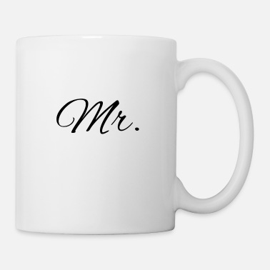 Hochzeitstag Mister Mr Brush black - Tasse