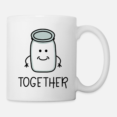 Couple Better Together 2 Lait coordonnés pour le couple - Mug blanc