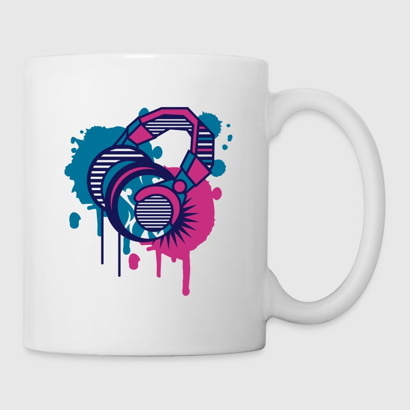 Casque Graffiti design - Mug blanc