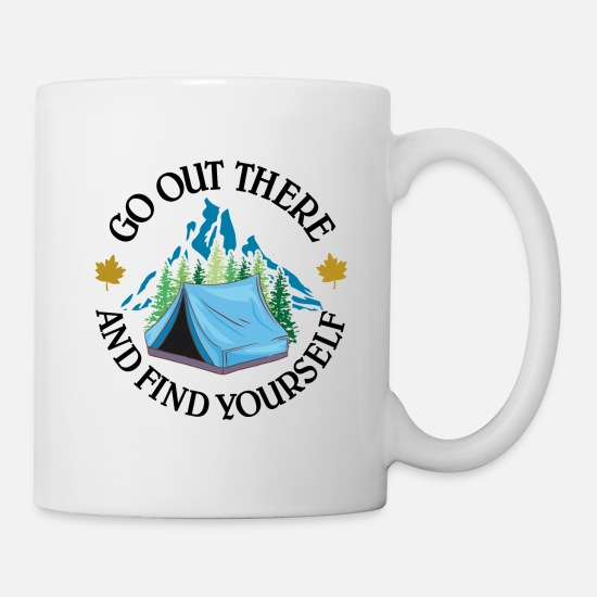 Starry Sky Mugs & Drinkware - Go out there and find yourself | camp - Mug white