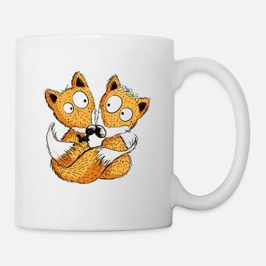 Couples Fox Wedding - Marriage - Couple - Bride - Gift - Mug