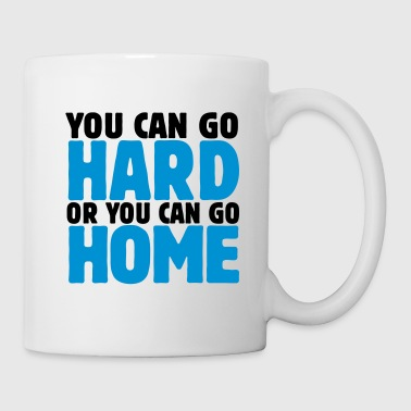 Dubstep you can go hard or you can go home 2c - Mug blanc
