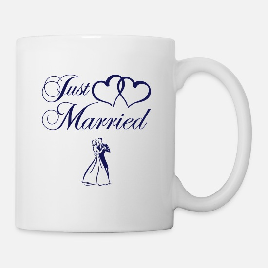 Mariage Mugs et récipients - just_married_couple - Mug blanc