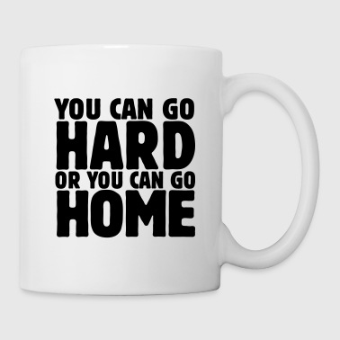 Dubstep you can go hard or you can go home 1c - Mug blanc