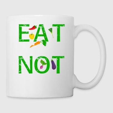 Eat Beans Not Beings Vegan Food T-Shirt Geschenk - Tasse