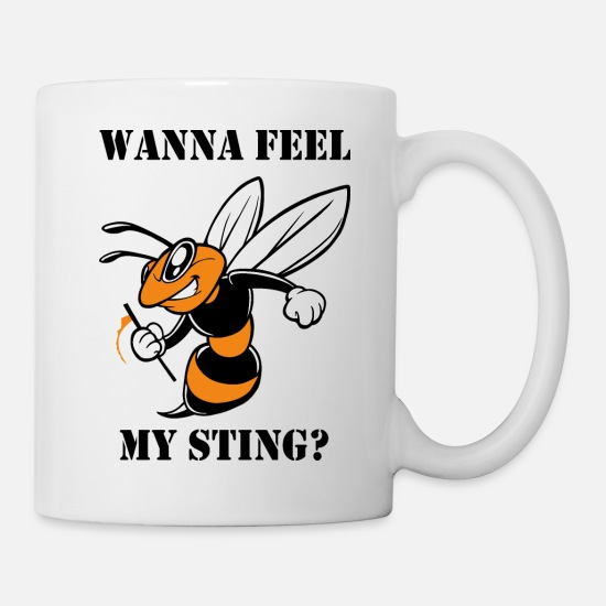 Wasp Mugs & Drinkware - wasp - Mug white