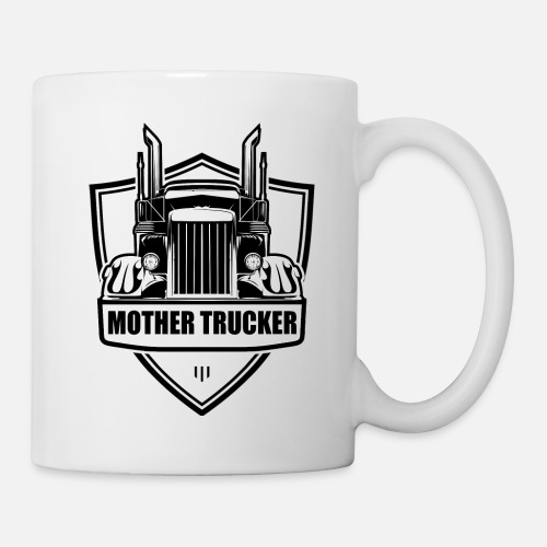 Moeder Vrachtwagenchauffeur Vrachtwagenchauffeur Cadeau Idee Mok Wit