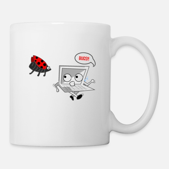Pc Mugs et récipients - Bugs Bug Crash Nerd Virus Banni Syntaxe Err - Mug blanc
