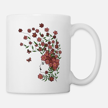 Art Flower Girl - Tasse
