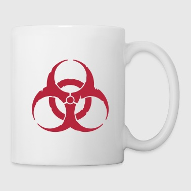 Dubstep hazard worn out light / hazardous distressed - Mug blanc