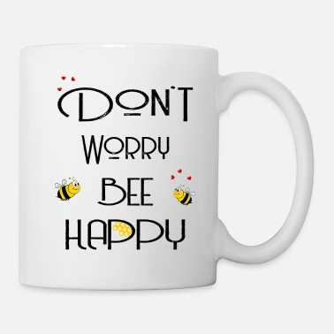 Schwarz Don't worry bee happy schwarz - Tasse