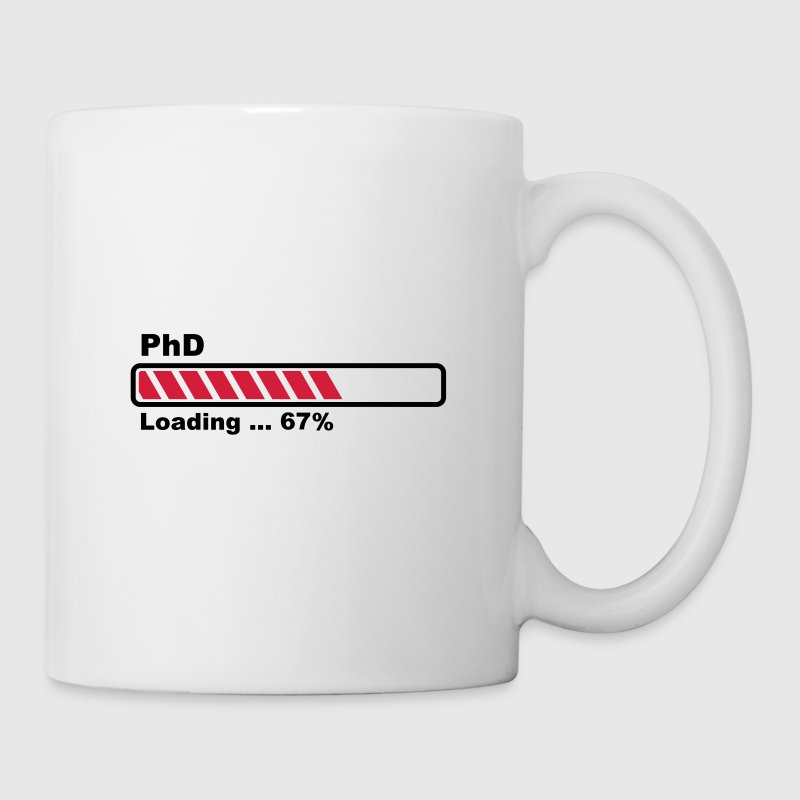 PhD barre loading - Mug blanc