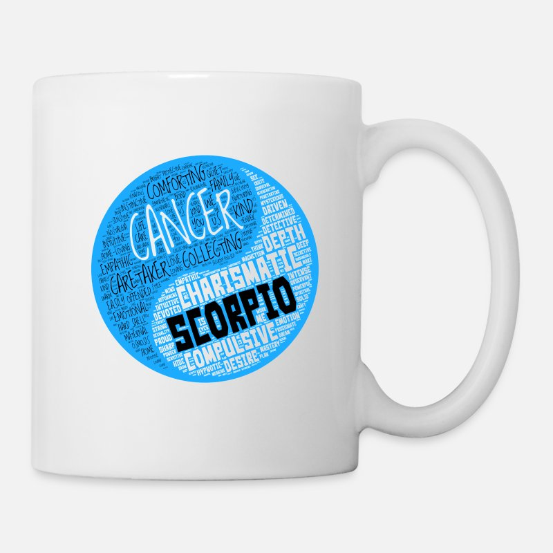 Cancer and Scorpio Zodiac Sign Man Love Mug Mug - white