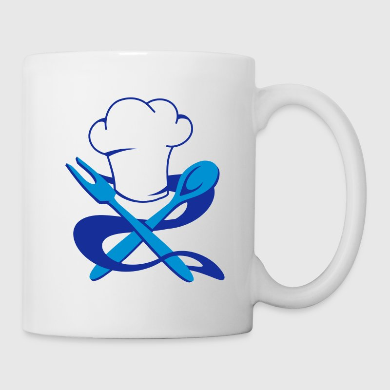 A chef's hat with spoon and fork - Mug