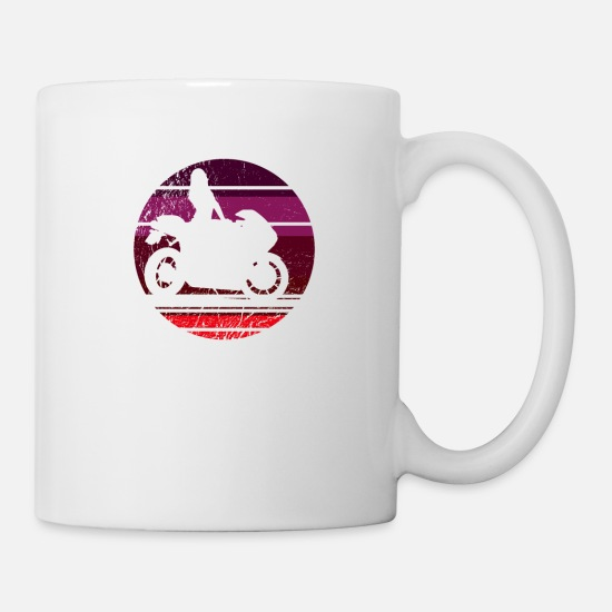 Race Mugs & Drinkware - Motorbike retro vintage motorsport bike - Mug white