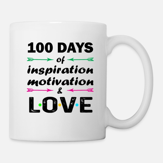 Qui Mugs et récipients - 100th Day of School Elementary Teachers Gift Funny - Mug blanc