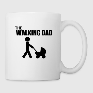 Papier the walking dad,citation,humour,parodie - Mug blanc
