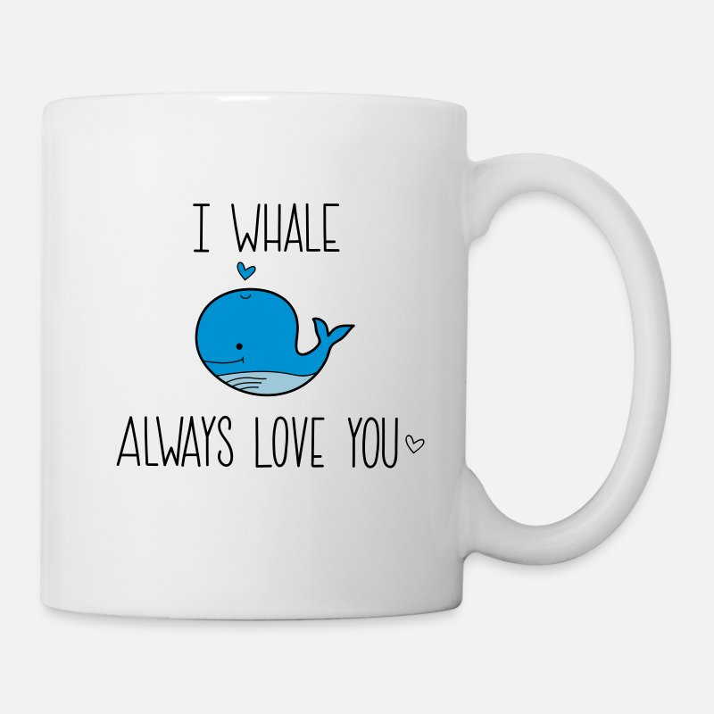 Couples Mugs & Drinkware - I whale always Love you - Mug white