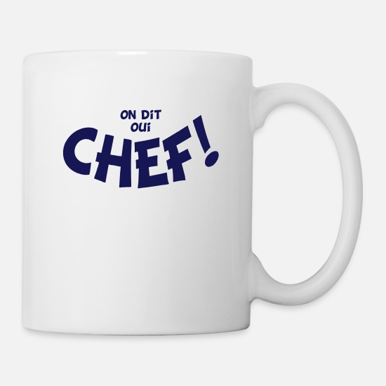 Dit Oui On Blanc Chef Mono Mug kZOXuPi